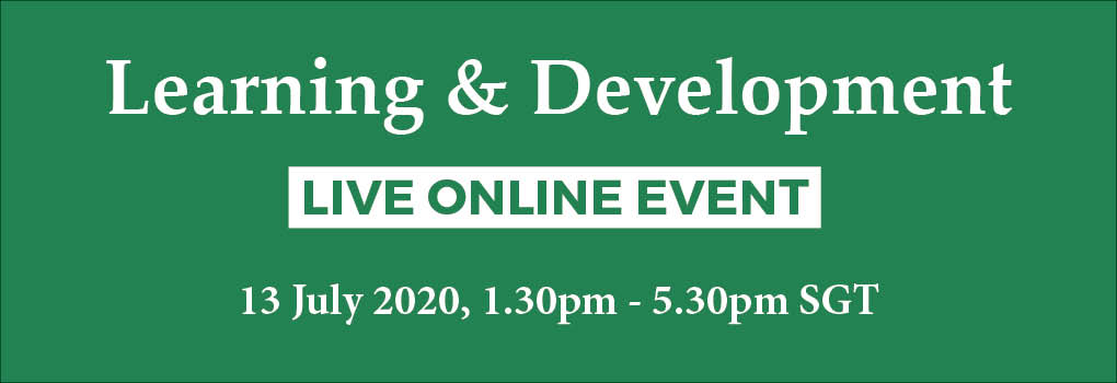 Learning and Development LIVE ONLINE EVENT 2020