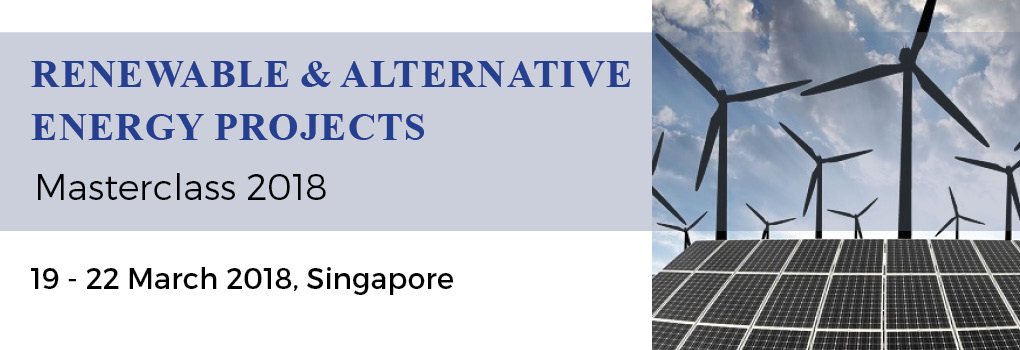 Renewable and Alternative Energy Projects Masterclass 2018