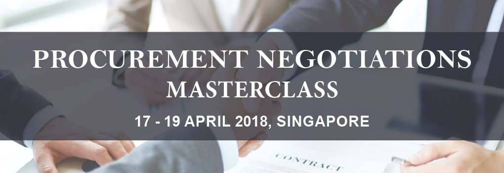 Procurement Negotiations Masterclass 2018